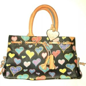 DOONEY & BOURKE Heart Handbag | Black Leather